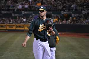 Oakland Athletics pitcher Evan Scribner was born July 19, 1985, in New Milford, Conn. He made his major league debut on April 26, 2011.