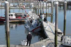 The incident happened at the Winthrop Public Landing town pier.