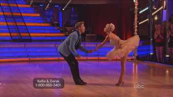 "Kellie Pickler and Derek Hough danced Jive to ""Footloose"" by Kenny Loggins"