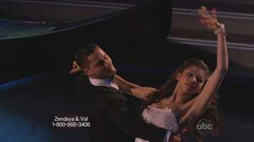 Zendaya and Val Chmerkovskiy performed the Viennese waltz.
