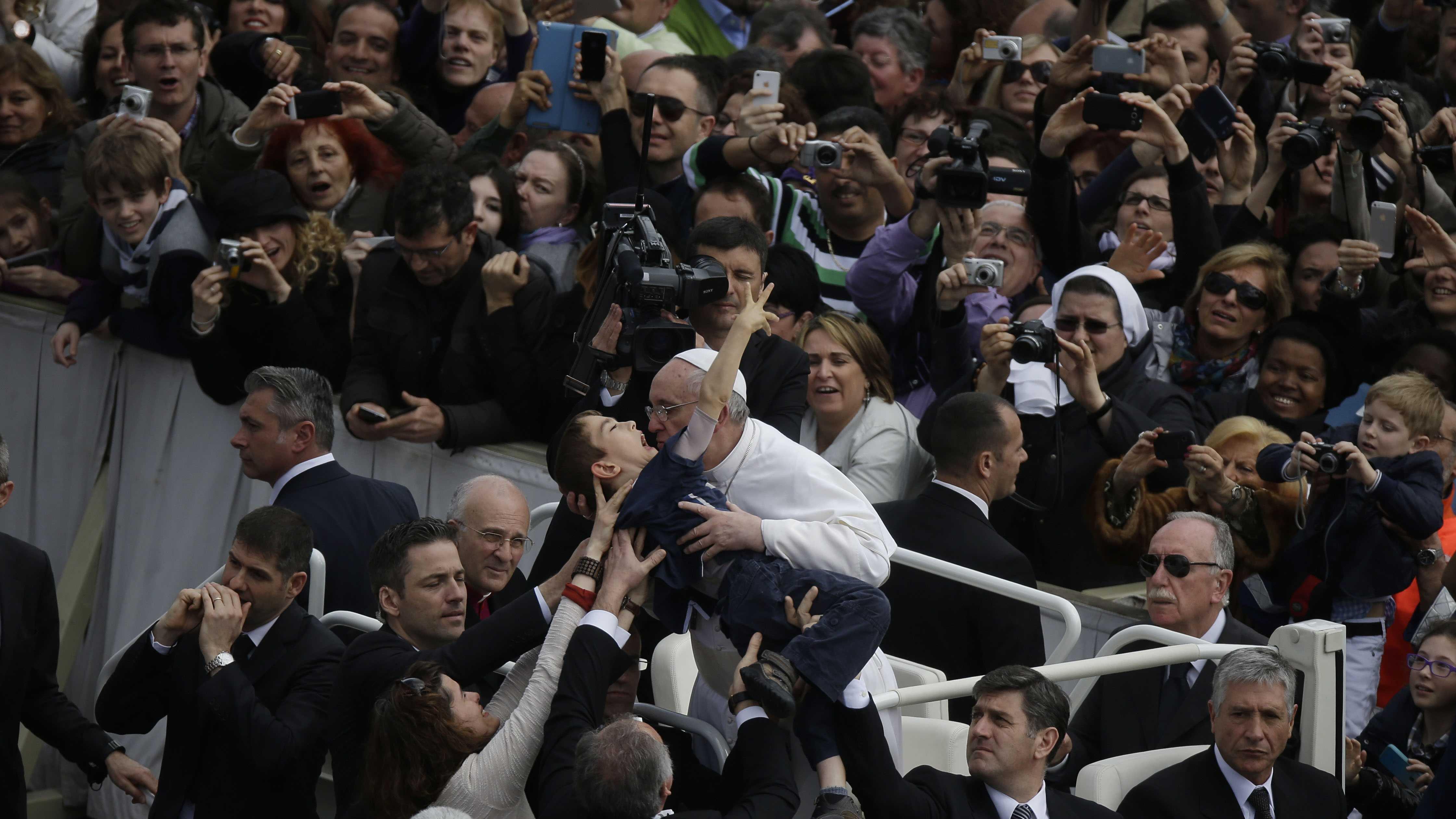 Pope Picks up Rhode Island Boy