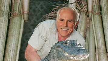 No, he was not off wresting alligators.