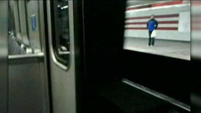 RED LINE TRAIN WITH OPEN DOORS