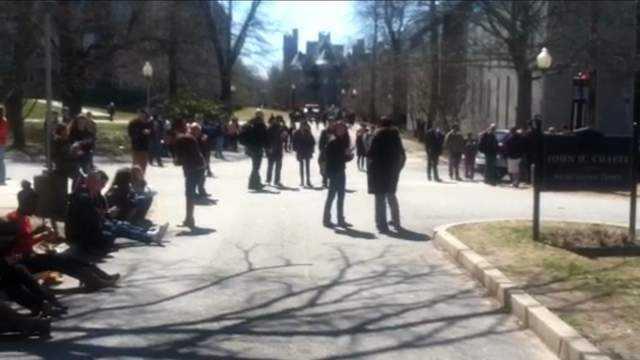 URI Students Outside