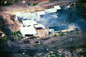 April 19, 1993: The Waco siege began on Sunday, February 28, 1993, and ended violently 50 days later on April 19.