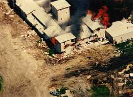 The siege by the FBI ended with the burning of the Branch Davidian ranch. Koresh, 54 other adults and 28 children were found dead after the fire.