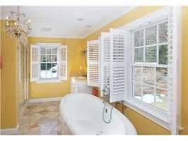 A soaking tub to relax.