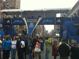 The finish line on Sunday