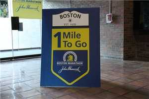 The sign every runner said they are looking forward to seeing Monday!