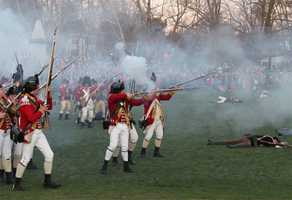 The Lexington training band was clearly over-matched by the force of the British regulars.
