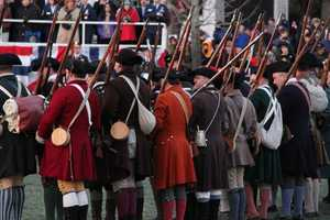 """This group of militiamen was part of Lexington's """"training band"""" in 1775."""