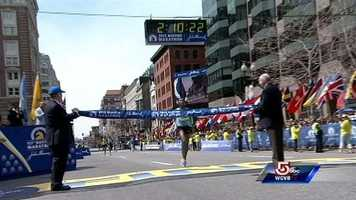 Lelisa Desisa of Ethiopia is the winner of the men's division in the Boston Marathon.