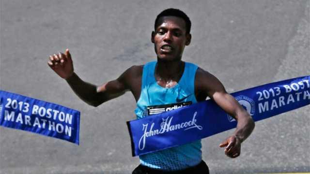 2103 Lelisa Desisa wins Marathon