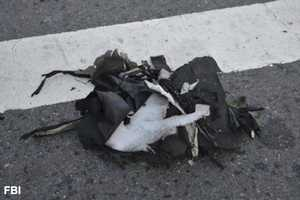 The FBI says one of the bombs was carried in this black back pack.