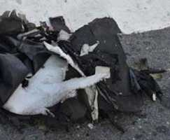 Both bombs were stuffed into black bags and left on the ground.