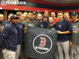 The Red Sox posted this photo on their Facebook page