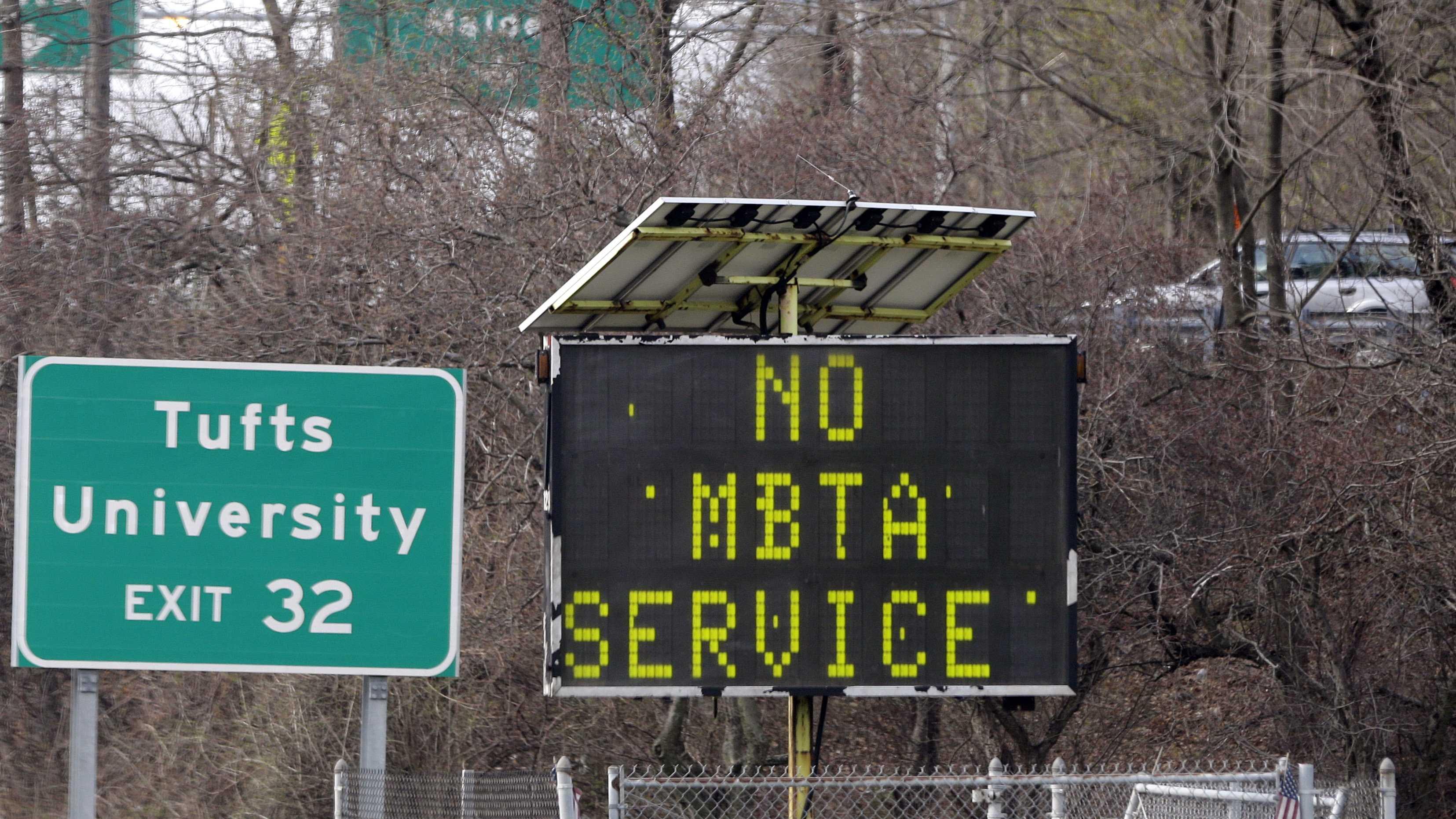 No MBTA Service Sign