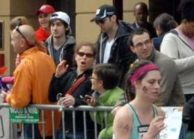This Monday, April 15, 2013 photo shows Tamerlan Tsarnaev, who was dubbed Suspect No. 1 and second from left, Dzhokhar A. Tsarnaev, who was dubbed Suspect No. 2 in the Boston Marathon bombings by law enforcement.