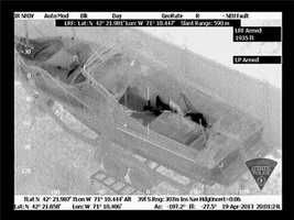 This infrared image appears to show Dzhokhar Tsarnaev in the boat.