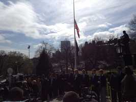 A moment of silence is observed at the Statehouse.