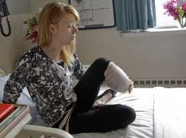 Adrianne Haslet, a professional ballroom dancer, lost a leg in the Boston Marathon bombings.