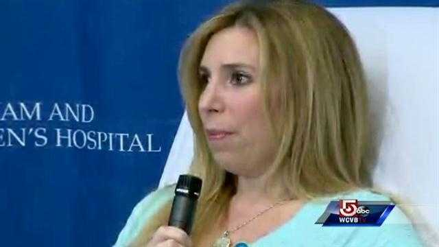 Heather Abbott at News Conf