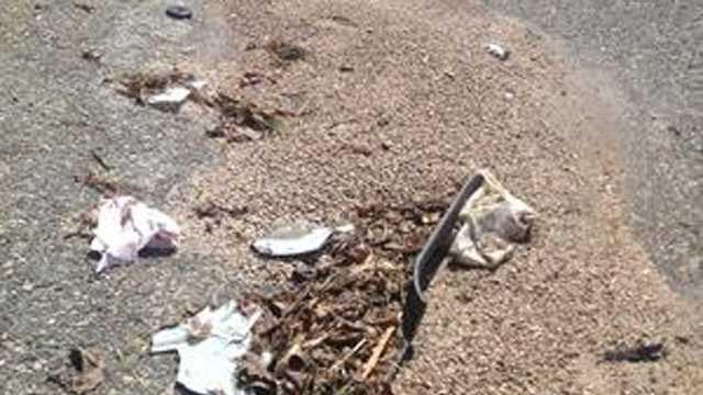 Brockton crash debris