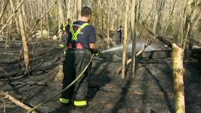 Hopkinton brush fire