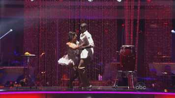 Dancing first on the night, Jacoby Jones: The NFL star's salsa was the first dance of the night, and judges had high praise.