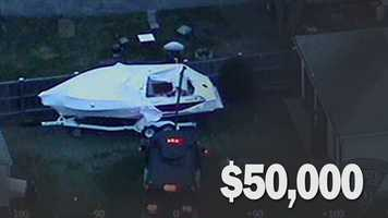 Retail cost of boat where suspect Dzohkhar Tsarnaev hid from police: $50,000