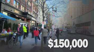 Cost to Sir Speedy's Printing, 827 Boylston Street: $150,000