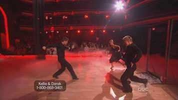 The couple put on a particularly dark and dramatic paso doble.