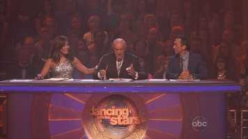 When it was Len's turn to judge the routine, he started talking... or more like yelling...