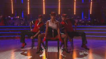 Aly Raisman and Mark Ballas and Henry Bialikov performed the jive