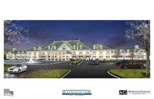 Millennium Gaming showed their sketches for a proposed casino at Rockingham Park.