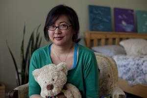Cambridge teacher Jenny Chung was struck by shrapnel at the finish line.