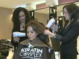 Officially, it's known as the Keratin Treatment.