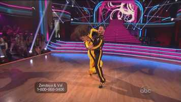 Goodman said he thought parts of the dance were fabulous, but said the increase in speed came at the expense of style. Zendaya earned 25 points.