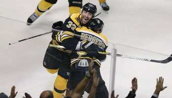 "Patrice ""Bergy"" Bergeron-Cleary was born on July 24, 1985.  His hometown is L'Ancienne-Lorette in Quebec."