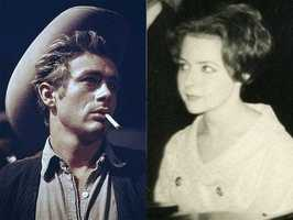6) James and Brenda(Pictured: Actor James Dean and musician Brenda Lee)