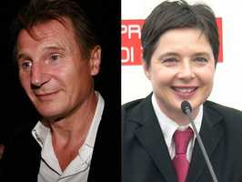 4) Liam and Isabella(Pictured: Actor Liam Neeson, and actress Isabella Rosellini)