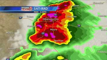 A look at the Doppler Radar in the area at the time of the tornado.
