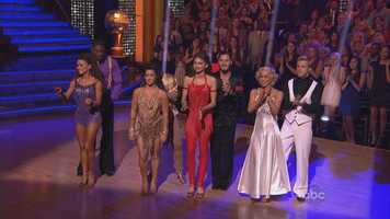 """The four remaining contestants on ABC's """"Dancing With the Stars"""" pulled out all the stops Monday night in their final bid to win the mirror ball trophy, performing three routines, including the all-important freestyle."""