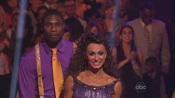 Jacoby Jones: For his first dance, the jive, the Baltimore Ravens wide receiver had some special advice during rehearsals from head judge Len Goodman, who advised him to make his kicks sharp and crisp.