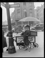 1937: Hot dog stand in North End, corner of Hanover and Blackstone Street