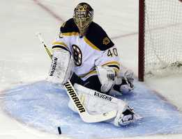 He replaced Thomas as the starting goalie before the 2012-2013 season lockout.