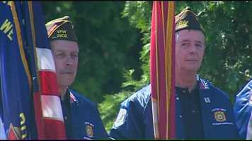 A service in West Roxbury on Memorial Day honored the memory of fallen Marines and soldiers.