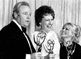 """Jean Stapleton was the stage-trained character actress who played Archie Bunker's far better half, the sweetly naive Edith, in TV's groundbreaking 1970s comedy """"All in the Family."""" Stapleton received eight Emmy nominations and won three times. Produced by Norman Lear, the series broke through the timidity of U.S. TV with social and political jabs and ranked as the No. 1-rated program for an unprecedented five years in a row.(January 19, 1923 – May 31, 2013)"""