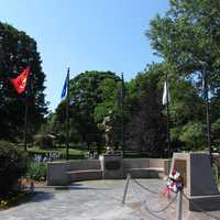 The town common has memorials honoring all of its local residents who either fought or died in all of the nation's wars.