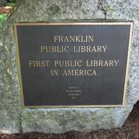 Franklin donated 116 volumes to the town, and the nation's first free public library was established in 1790.